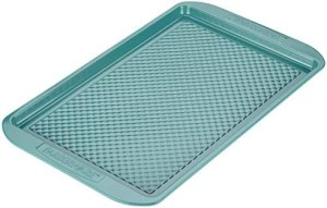 Farberware Ceramic Nonstick Bakeware, Nonstick Cookie Sheet / Baking Sheet – 11 Inch x 17 Inch, Aqua Blue