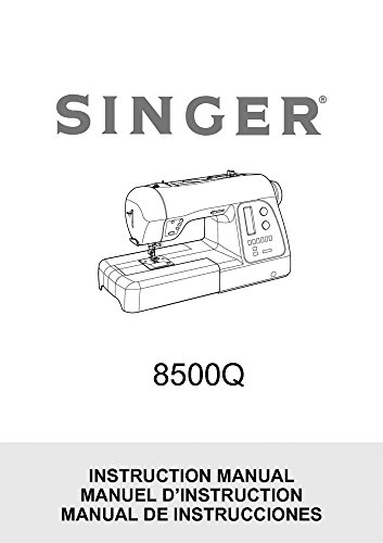 Singer 8500Q Sewing Machine/Embroidery/Serger Owners Manual Reprint [Plastic Comb]
