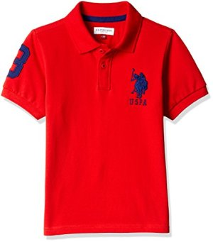 US Polo Association Boy's Plain Polo