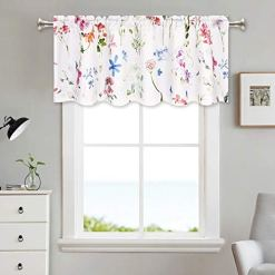 Watercolor Flower Valance