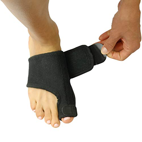 Vive Bunion Brace (Pair) - Big Toe Straightener Splint -Corrector for Hallux Valgus Pad, Joint Pain Relief, Alignment Treatment - Orthopedic Sleeve Foot Wrap Night Time Support for Men and Women