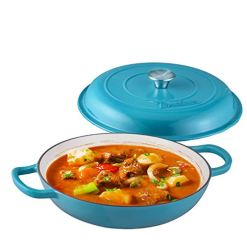 Shallow Casserole Braiser Pan with Cover