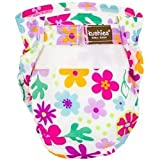 Kushies Ultra Lite All in One Diapers - Infant - White Flower