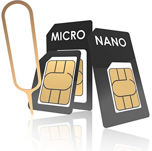 innoGadgets Nano-SIM Adapter Set | Complete Adapter Set for Nano-SIM to Micro-SIM to SIM | Includes SIM Opener Needle