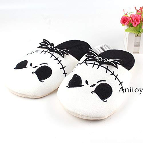 The Nightmare Before Christmas Jack SkellingtonAdult Plush Slippers Winter Shoes Soft Stuffed Toys 26.5cm