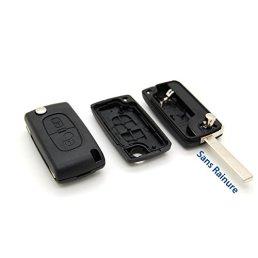 Coque-cl-plip-tlcommande-2-boutons-Peugeot-107-207-307-308-407-Sans-Rainure