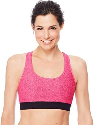 Hanes Sport Women's Compression Racerback Sports Bra