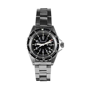 Marathon Watch Swiss Made Military Issue Milspec Diver's Quartz Medium Watch with Tritium Illumination, 36 mm (Stainless Steel Bracelet) SKU - WW194027BRACE