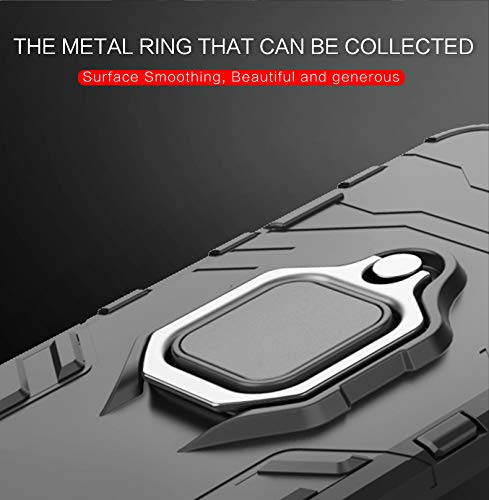 Casodon Back Cover Kickstand View Ring Holder Armor Case for Oppo F11 Pro (Black) 5