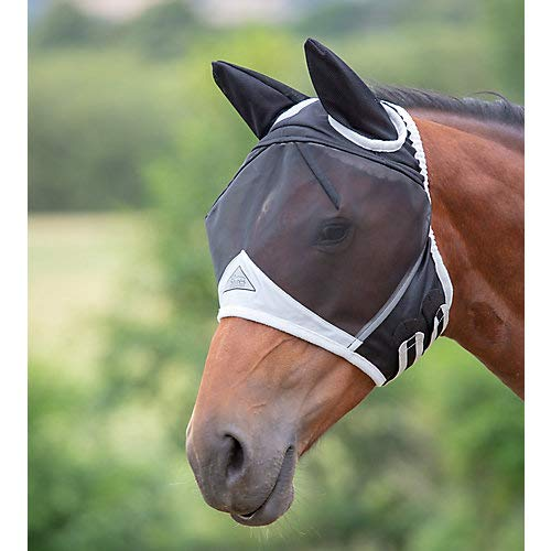 Shires Fine Mesh Fly Mask with Ears 1