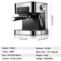 ZLASS-Espresso-Machines-20-Bar-Cappuccino-Machine-with-Microcomputer-Control-Touch-Screen-and-16L-Removable-Water-Tank-Espresso-Machine-for-Home-Barista