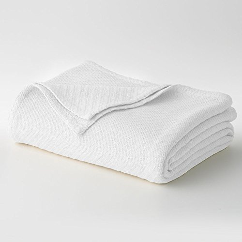 Cotton Craft - 100% Soft Premium Cotton Thermal Blanket - Snuggle in These Super Soft Cozy Cotton Blankets - Perfect for Layering Any Bed - Provides Comfort and Warmth for Years