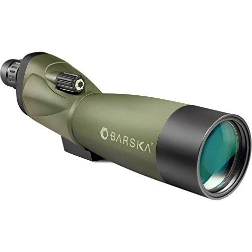 BARSKA Blackhawk 18-36x50 Straight Spotting Scope with Tripod and Case (Green Lens)