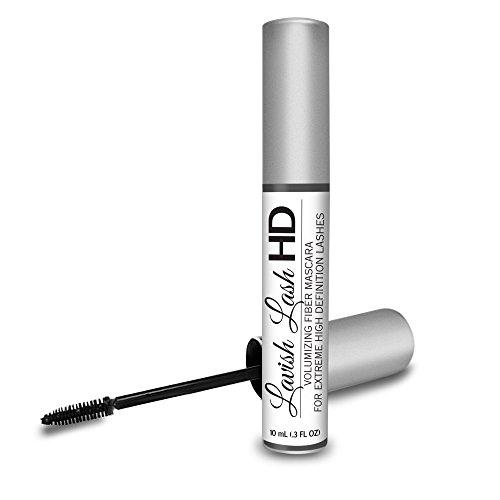 Lavish Lash HD by Hairgenics -Ultra-Premium Volumizing Fiber Mascara for Extreme High Definition Lashes.