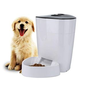 FULLOSUN 4L Automatic Cats and Dogs Pet Feeder Food Dispenser with Distribution Alarms, Portion Control, Programmable Timer for up to 6 Meals per Day Features