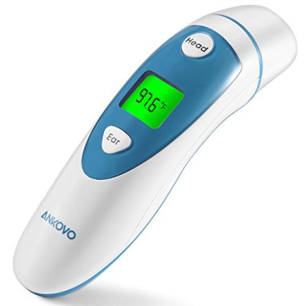 ANKOVO Thermometer For Fever Digital Medical Infrared Forehead and Ear Thermometer for Baby,Kids and Adults with Fever