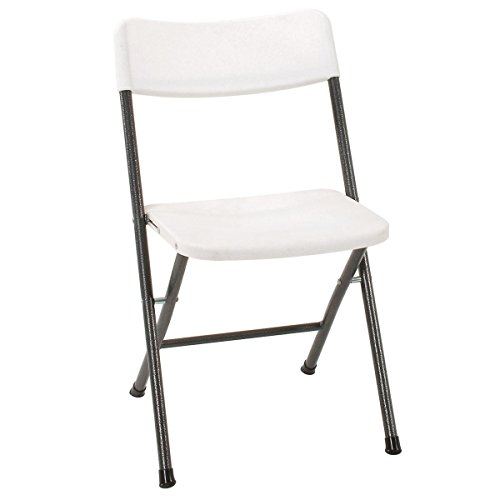 Cosco Resin Folding Chair with Molded Seat and...