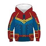 Tsyllyp Carol's Hoodies Toddler Girls Superhero Costume 3D Sweatshirt Hooded