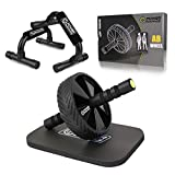 POWER GUIDANCE AB Wheel, Exercise Home Gym Equipment for 6 Pack Abs & Core Workout Roller - with Innovative Non-Slip Rubber, Extra Thick Knee Pad & Comfort Foam Grips