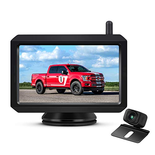 AUTO-VOX W7 Wireless Backup Camera Kit, 5'' Monitor with Stable Digital Signal Transmission from Rear View Camera. Suitable for Truck, Van, SUV, Camping Car