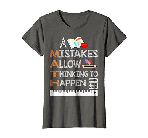 Womens Funny Math Teacher T Shirts Gifts Math Lover TShirt Gifts XL Asphalt