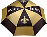 Team Golf NFL 62' Golf Umbrella with Protective Sheath, Double Canopy Wind Protection Design, Auto Open Button