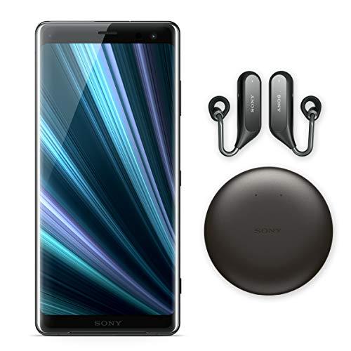 "Sony Xperia XZ3 Unlocked Smartphone - Xperia Ear Duo (Bundle), 64GB - 6.0"" OLED Screen - Black (US Warranty)"