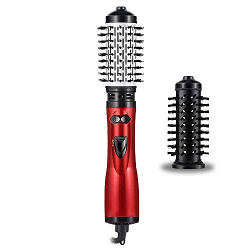 Rotating Hair Dryer Brush, Hot Air Spin Brush for short hair,One Step Hair Dryer & Volumizer 3 in 1 Feature Anti-scald Negative Ion Hair Straightener Brush with Smooth Frizz and Ionic Technology