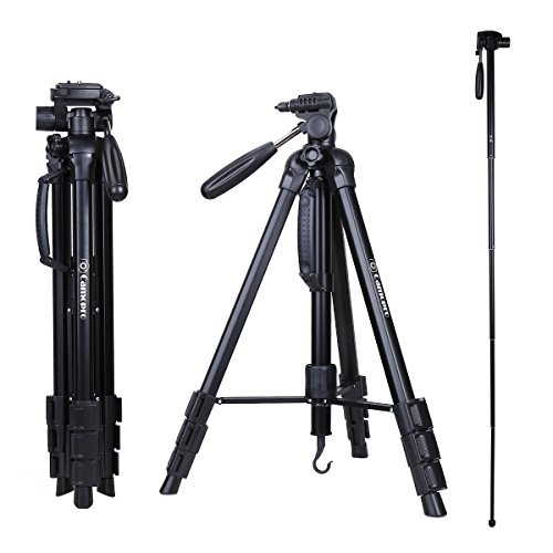 Tripod – Camopro 70 Inches Professional Digital SLR Camera Aluminum Tripod Monopod – Travel Portable Tripod for SLR DSLR Canon Nikon Sony DV Video with Carry Bag