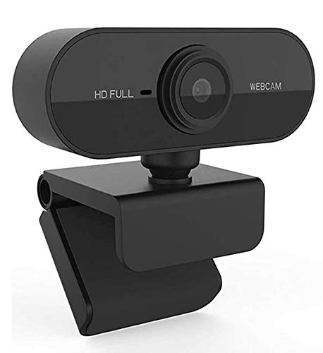 ENHANCE X1 Webcam with Microphone 1080P Full HD Web Camera, Plug and Play USB Streaming Camera for Video Calling Conference Recording Online Teaching, 110 Degrees Wide-Angle