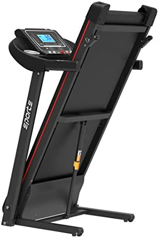 """uslion Folding Treadmill, Smart Motorized Treadmill with Manual Incline and Air Spring & MP3, Exercise Running Machine with 5"""" LCD Display for Home Use 2"""