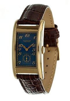 Circa Men's Rectangular Watch Blue and Gold CT125T [Watch]