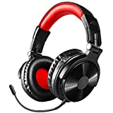 Bluetooth Over Ear Headphones, OneOdio Wired Gaming Stereo Headsets w/Detachable Mic for PS4, Xbox one, PC, Cell Phones, Office, Wireless Headset w/ 30 Hrs Play Time [Only Wired for Gaming-Xbox/PS4]
