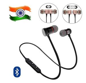 BLAXSTOC Bluetooth Headphone with Noise Isolation and Hands-Free Mic and Buttons with Magnetic Earbuds Secure Fit for Gym, Running and Outdoor Compatible with All Android & Smartphones ( With Warranty )