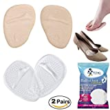 Medical Gel Forefoot Shoe Insole Metatarsal Pads Ball of Foot Cushions for Women High Heels to Pain Relief, 2 Pairs