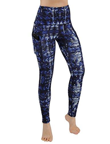 27898711646f09 ODODODOS High Waist Out Pocket Printed Yoga Pants Tummy Control Workout  Running 4 Way Stretch Yoga Leggings,Indigo,Large – ALLSORCE.COM