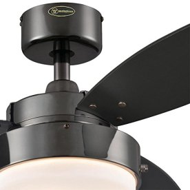 Westinghouse-Lighting-7876400-Alloy-42-Inch-Gun-Metal-Indoor-Ceiling-Fan-Light-Kit-with-Opal-Frosted-Glass-42-Inch