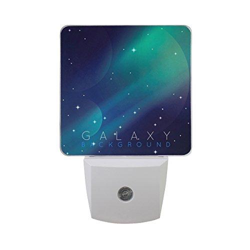 Saobao - Lámpara LED de noche con luz de fondo para galaxia, ideal para recámara, baño, salón,...