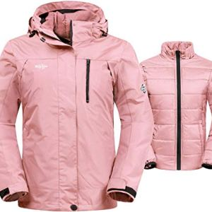 Wantdo Women's 3-in-1 Waterproof Ski Jacket Interchange Windproof Puffer Liner Warm Winter Coat Insulated Short Parka 18 Fashion Online Shop gifts for her gifts for him womens full figure