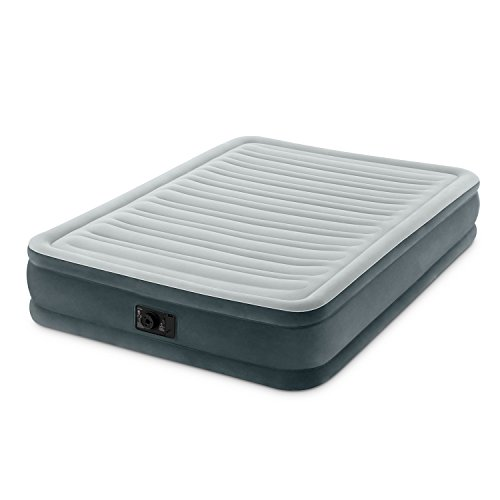 Intex Comfort Plush Mid Rise Dura-Beam Airbed with Built-in Electric Pump, Bed Height 13', Full