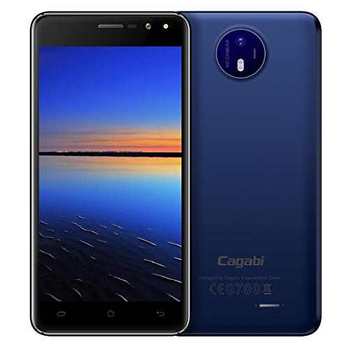 Cagabi ONE 1GB+8GB 5.0 Inch 2.5D Android 6.0 MTK6580A Quad Core up to 1.3GHz WCDMA & GSM (Dark Blue)