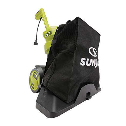 Sun Joe SBJ803E 14-Amp Walk Behind Outdoor Corded-Electric Vacuum Blower + Mulcher, Green