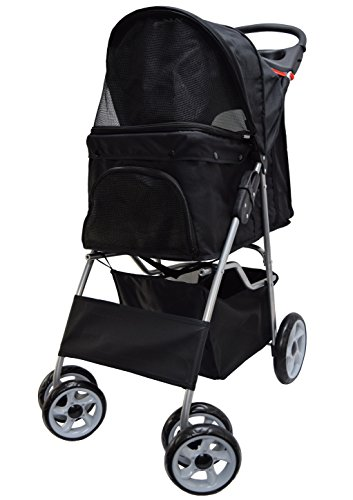 VIVO Four Wheel Pet Stroller, for Cat, Dog and More, Foldable Carrier Strolling Cart, Multiple Colors 1