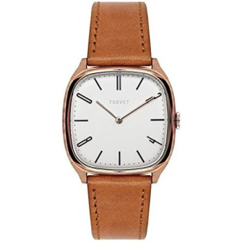 Tsovet JPT-TW35 Watch - Women's Rose Gold/White/Black-Tan, One Size