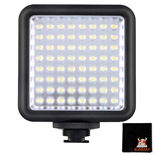 GODOX-LED64-Video-Light-Ultra-Bright-LED-Panel-Light-Offer-Continuous-Lighting-Source-Interlocking-Dimmable-Fits-Almost-Any-DSLR-Cameras-LED64