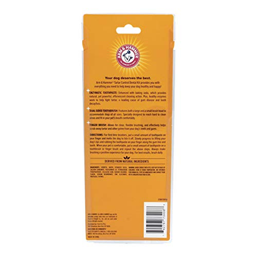Arm & Hammer Tartar Control Dental Solutions for Dogs   Dog Toothpaste, Toothbrush, Water Additive & Dental Sprays   Vital to Your Dog's Health 3