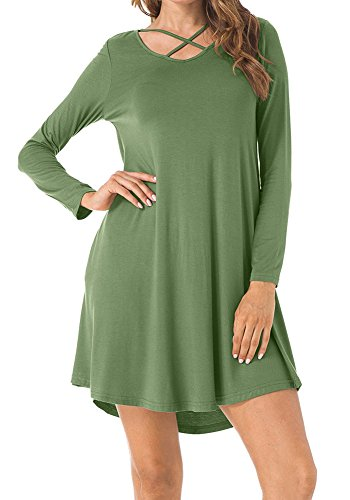 8dfe832f38f Long Tunic Dress Loose Shirts Women for Spring Summer Fall Winter ...