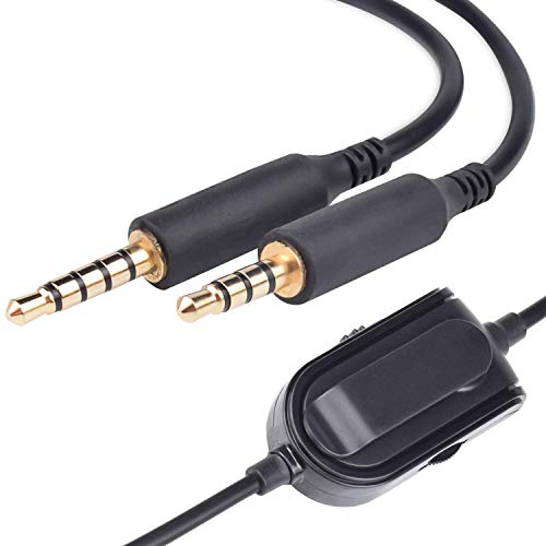Alitutumao 6.5 Feet Replacement Astro A40 Audio Chat Cable Cord Inline Mute Volume Control Cable Fit Astro A10 A40 Gaming Headsets Compatible Xbox One PlayStation 4 PS4 PC Smartphone MixAmp