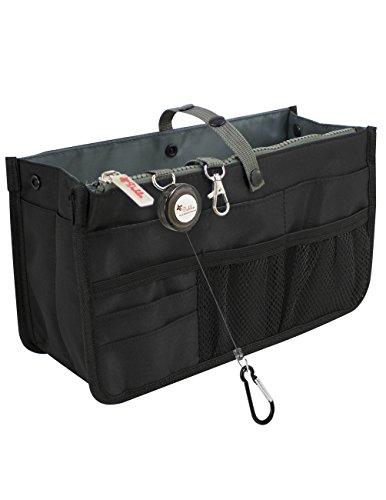 Dahlia's Patented Handbag Purse Organizer Insert - STURDY Flexible, Black