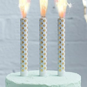 Ginger Ray for a Party 3 Pack Gold Polka Dot Cake Fountains 41MT9Il8IuL